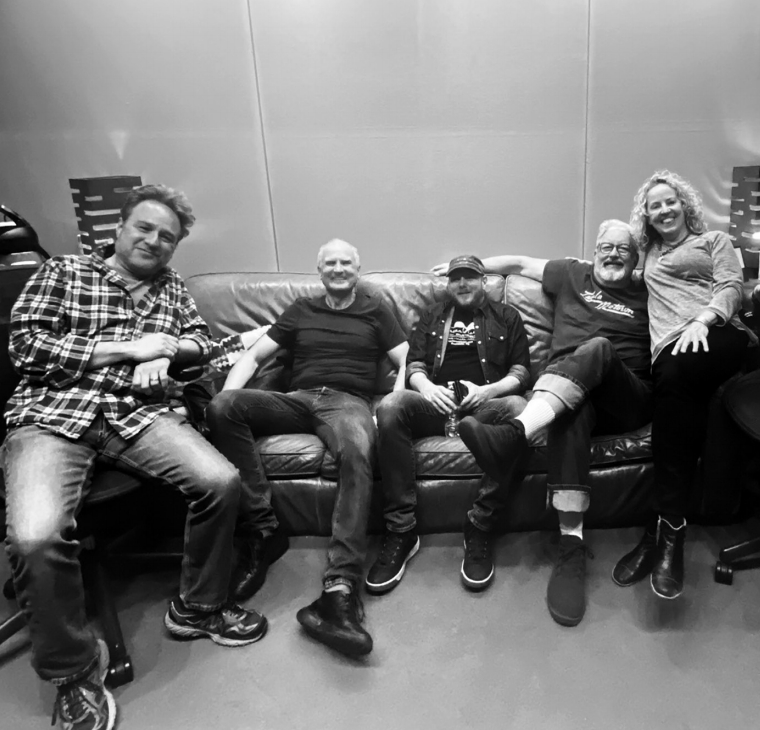 The band in the studio, February 2020