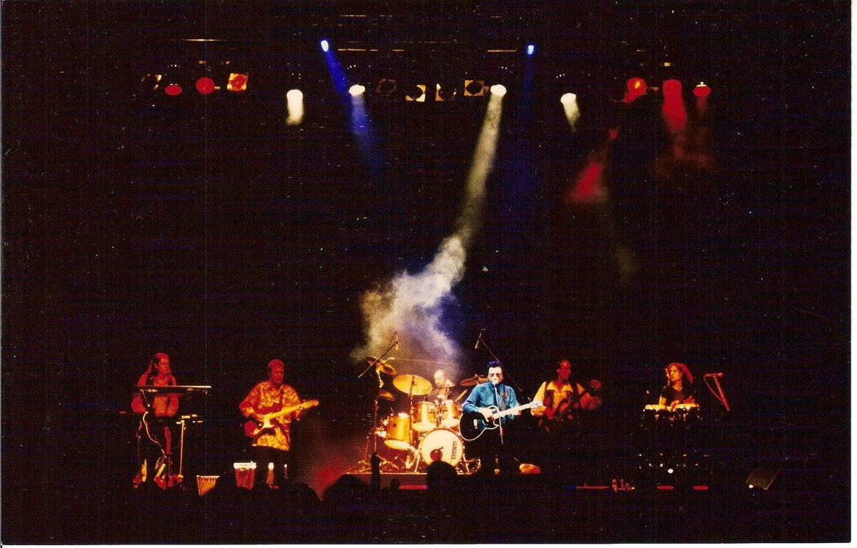 Rodriguez and Big Sky on Stage, 7th March 1998.