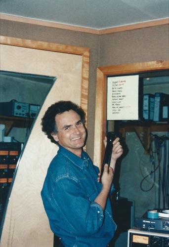 Recording Mr. Green in studio