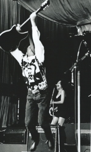 Steve playing live at Ellis Park in one of Big Sky's early performances.