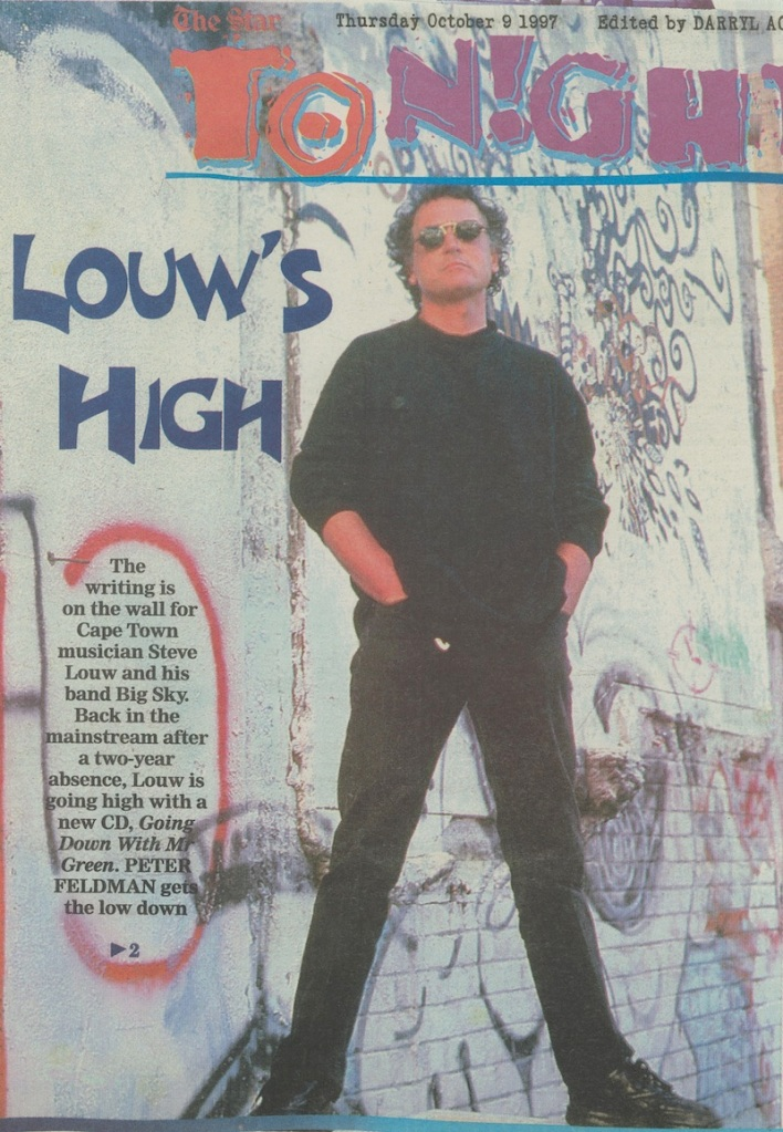 """""""Louw is going high with a new cd, 'Going Down With Mr. Green'"""" - Tonight, Oct 1997"""