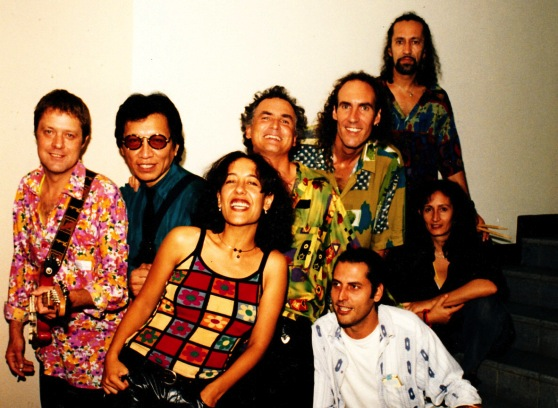 Big Sky backstage with Rodriguez on the 1998 The Cold Facts tour.
