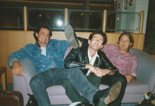Steve with Dan Heyman and Willem Moller in Port Elizabeth in 1990.
