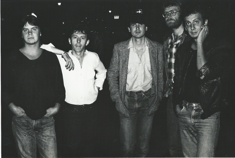 All Night Radio (early 80's) with Steve Louw (centre)