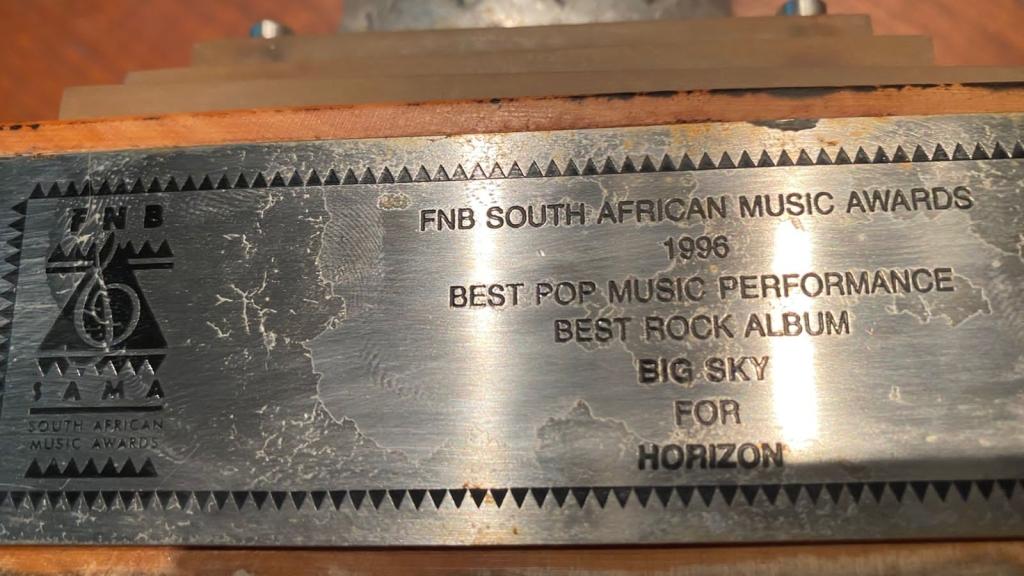 FNB South African Music Awards 1996 Best Pop Music Performance Best Rock Album Big Sky for Horizon