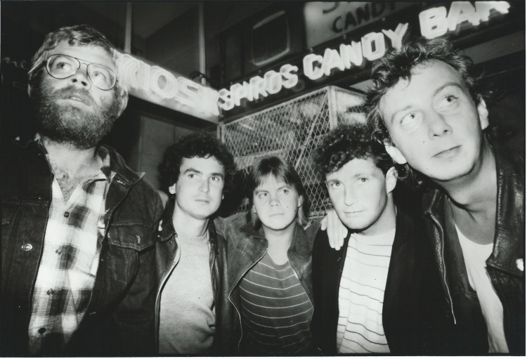 "All Night Radio (left-to-right): Rob Nagel, Steve Louw, Nico Burger, Richard ""Dish"" Devey, Pitchie Rommelaere"