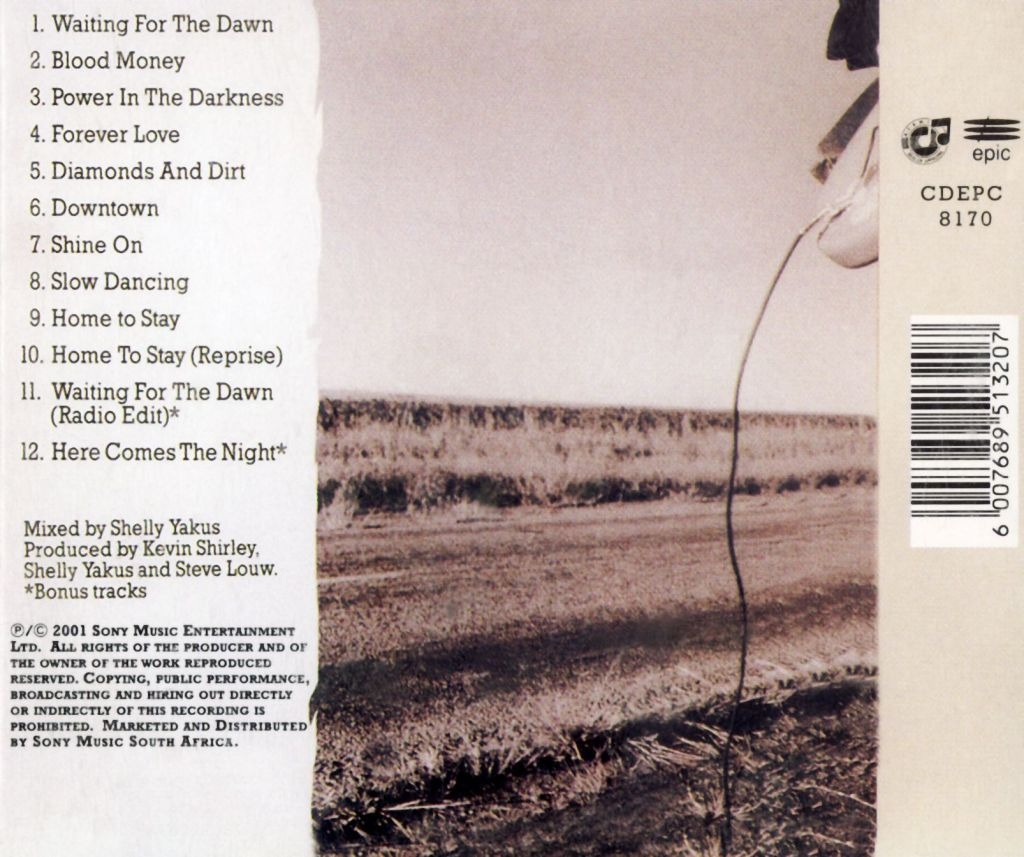 Waiting For The Dawn Back Cover